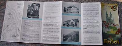 1957 MEIßEN MEISSEN Touristen Werbung Faltblatt *7859