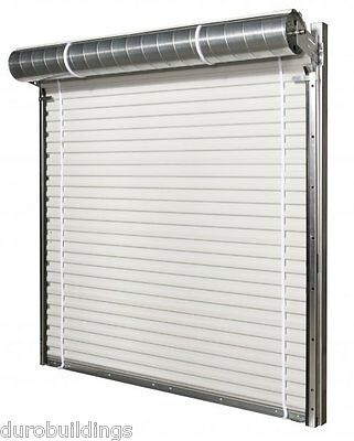 DuroSTEEL JANUS 9'W x 8'H Commercial 2500 Series Heavy Duty Roll-up Door DiRECT