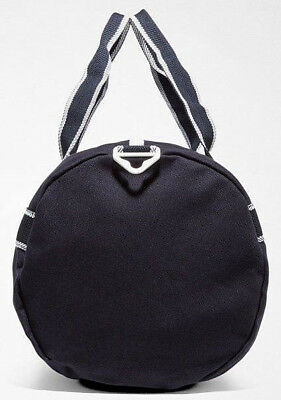 ... FRED PERRY 2018 Sports Canvas Barrel Bag Navy Gym LAPTOP Work Travel  Backpack 4 efc3b6273e85b