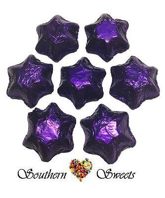 1Kg Purple Foiled Stars Milk Chocolate Candy Buffet Bar Purple Lollies Theme 2 • AUD 25.00