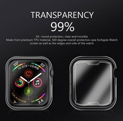 Full Cover TPU Case iWatch Screen Protector For Apple Watch Series 4 3/ 2 / 1 8