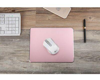 gaming Mauspad Mousepad Doppelseitig Aluminium Leder Metall rund silber gold