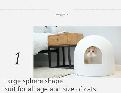 Pidan Igloo Snow House Portable Hooded Cat Toilet Litter Box Tray House w/ Scoop 5