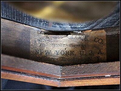 Asonia School Clock Regulator.. Large.Vintage. 4