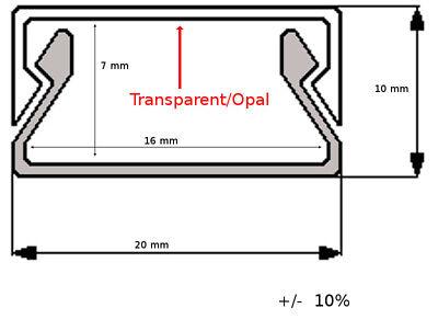 Ab 1,90 €/M 2M LED Profil u Abdeckung Leiste Schiene f. LED Band Streifen Stripe 7