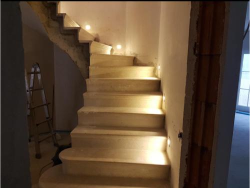 1-12xLED Treppenbeleuchtung Wand Einbauleuchte Warmweiß Kaltweiß Lichtsteuerung