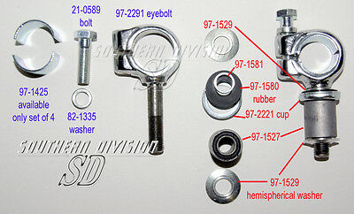Triumph packing set of 4 x 97-1425 , H1425 for Handlebar P clamp 97-2291 97-1523