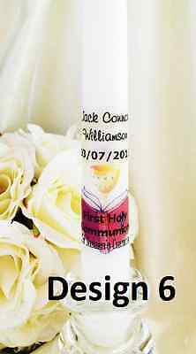 Christening  Baptism  Communion  Confirmation naming personalised candle