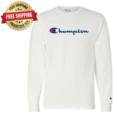 23e2c243e ... Original Champion Men's Classic Jersey Script Long Sleeve T-Shirt 3