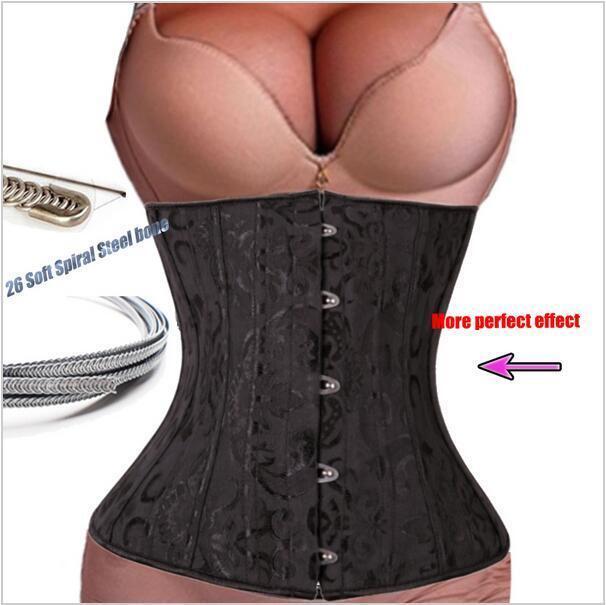 Slimming Women Steel Boned Waist Cincher Underbust Corset Body Shaper Belts