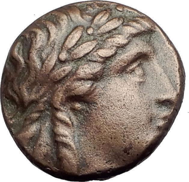 ANTIOCHOS II THEOS 261BC Ancient SELEUKID Greek Coin APOLLO TRIPOD ANCHOR i64765 2
