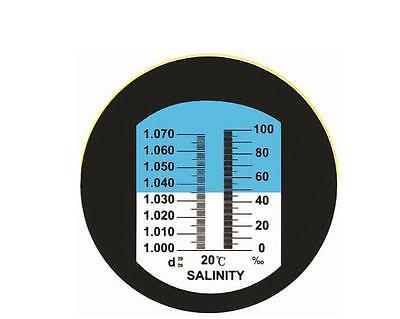 Refraktometer Salinität Salz Aquarium, Salzgehalt:0-100‰ Dichte:1.000-1.070 3