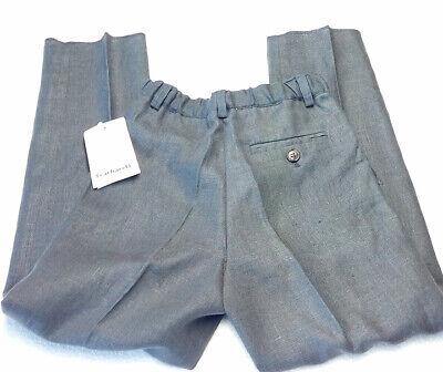 Kinder Jungenhose Cacharel Marke grau 6 Jahre Leinen 118 cm gerade UVP £ 140 3