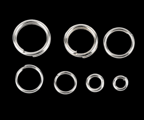 100Pcs 4-10mm Stainless Steel Round Split Rings Small Double Ring Jewelry Making 6