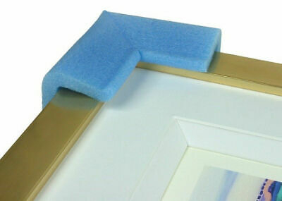 PICTURE FRAME CORNER PROTECTORS BLUE PE FOAM 15mm - 60mm BABY SAFETY GUARD EDGE 4