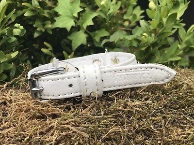 FATANO Hundehalsband Leder 20-30 cm MINI Halsband Strass Lederhalsband H5006 2