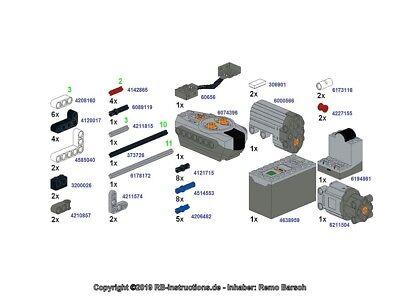 RBi Bauanleitung instruction 42096 only RC Porsche 911 RSR Eigenbau MOC aus LEGO