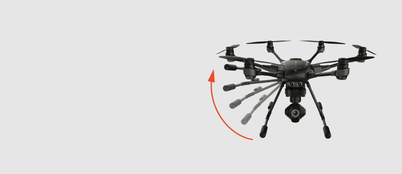 YUNEECTyphoon H Hexacopter with CGO3+ 4K Camera. 4