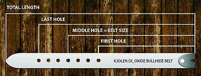 Classic Golf Genuine Natural Bullhide Full Grain Leather Belt Shoulder Strap 4