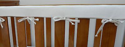 Cot Rail Cover White  Crib Teething Pad  - x 1