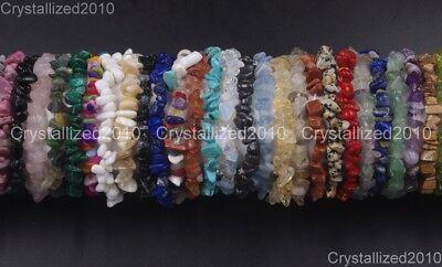 Handmade 5-8mm Mixed Natural Gemstone Chip Beads Stretchy Bracelet Healing Reiki 3