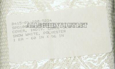 2 Snow Camo Individual Netting 5/'X8/' Military Guillie Camouflage Mesh White NIB