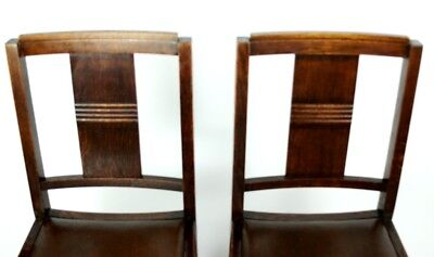 Art Deco pair of Oak Wood Dining Chairs | Patina - PRICE IS FOR PAIR [PL2033B] 8