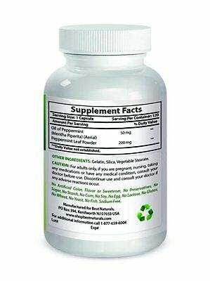 Best Naturals Peppermint Oil Bowel Soothing, 250 mg, 120 Capsules 2