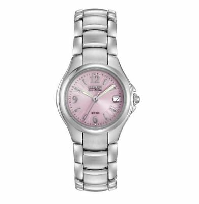 Citizen Eco-Drive Women's EW1170-51X Pink Floral Motif Dial Bracelet 25mm Watch 2