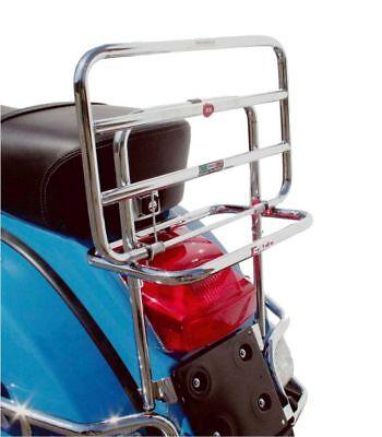 Portapacchi Posteriore Cromato Faco Con Ribaltina X Piaggio Vespa Px 125-150-200 2