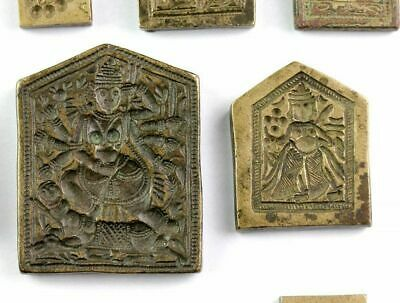 *SC*BEAUTIFUL COLLECTION OF 10 INDIAN HINDU SEALS, ca. 19th. century! 4