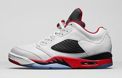 643a11133c4f ... low cost 5 of 6 nike air jordan 5 v retro low white fire red size