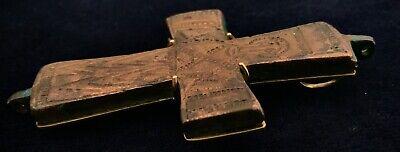 HUGE XL Byzantine (600-900 AD) Ancient Bronze Cross & 18K Gold: Barakat Ancients 4