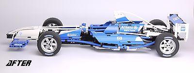 REPLACEMENT 'DIE CUT' STICKERS for Lego 8461 Williams F1 Team Racer + BONUS 6