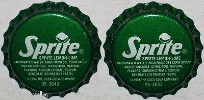 Soda pop bottle caps Lot of 12 SPRITE #1 Coca Cola plastic lined new old stock