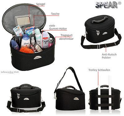 Schminkkoffer Beauty Case Kosmetikkoffer Beautycase Damen Koffer bag 531 Schwarz 8