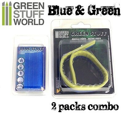 COMBO Blue Stuff Instant Plastic Clay *and* 12' Green Stuff - for BNIB Wargames 3