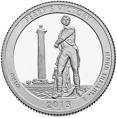 2013 5xP & 5xD Perry's Victory Memorial OHIO STATE NATIONAl PARK 25¢ BU MS MINT 3