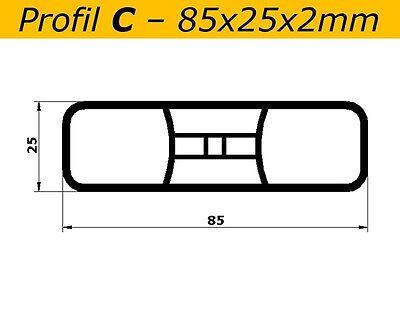 Latten C weiss L=84cm Profiware Kunststoffzaun Gartenzaun Staketen 85x25x2mm
