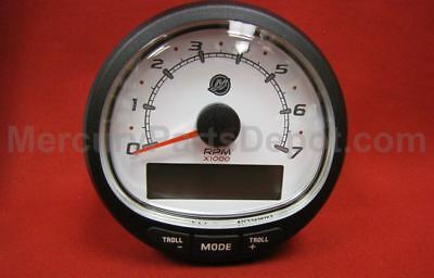 MERCURY SMARTCRAFT SC1000 Tachometer White 79-8M0135634 & 879982T20 CAN  Harness