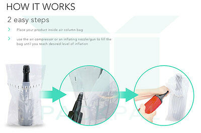 10 X Column Air (7 columns) inflatable packaging bag for wine bottle 2