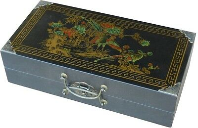 Oriental Style Chess Set-Chinese Warriors Pieces in Black Deluxe Case (CH-L02B)