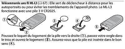 TELECOMMANDE IR infrarouge POUR NIKON D3000 D5100 D5000 D5300 D610 V3 type ML-L3 4