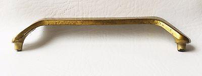 "Brass Vintage Antique Hardware MCM Mid Century Modern Drawer Pull 5 1/4"" centers 4"