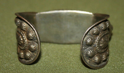 Antique Medieval Greek folk silver plated fertility bracelet 10