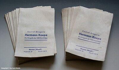Konvolut etwa 95 gleichartige Tüten aus Drogerie in HAMM wohl um 1960 (mittel) 5
