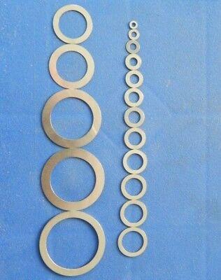 Paßscheiben 3 bis 40 mm DIN 988, Distanzscheiben, Stahlausgleichsscheiben blank 2