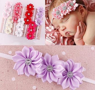 Baby Girls Flower Hairband Soft Elastic Headband Gifts Hair Pin Accessories Band 3