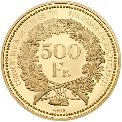 Switzerland 2018 Stans Shooting Thaler 500 Swiss Francs Gold NGC PF70 PR70 UC 4