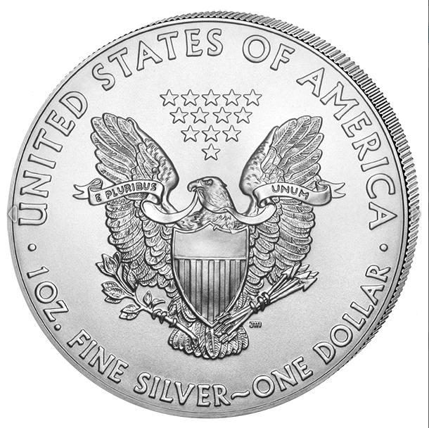 Silber Eagle 2019 1 OZ Unze Ounce Once Silver Argent USA US American États-Unis 2